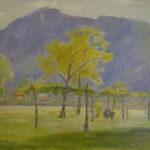 Autunno, Caslano 1972 olio 49x40 cm - Proprietà: Repubblica e Stato del Cantone del Ticino Museo Cantonale d'Arte - Esposto: Direzione scuola media, Ambrí