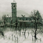 Paesaggio invernale, Caslano 1938 - olio 80x64 cm - Proprietà: Repubblica e Stato del Cantone del Ticino Museo Cantonale d'Arte - Esposto: Palazzo delle Orsoline, Bellinzona