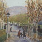 Sera d'inverno, Ginevra 1936, olio 34 x 26 cm