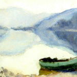 Il mattino, Caslano 1945 - acquarello 24x19 cm