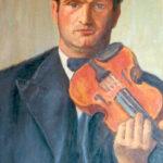 Il violinista, 1937 - olio 60x73 cm