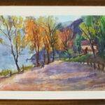Sentiero, Caslano 1970, acquarello 70x50 cm