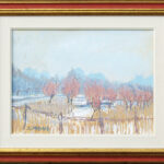 Vigna e salici, Caslano 1957, olio 39x29 cm