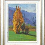 Fiamma d'autunno, Caslano 1955, olio 25x34 cm