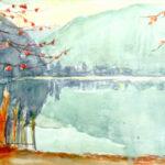 Novembre a Caslano, 1975 - acquarello 70x50 cm