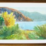 Orizzonte, Caslano 1962, acquarello 68x48 cm