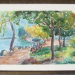 Contemplazione, Magliaso 1974, acquarello 67x48 cm