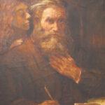 D'après Rembrandt, Le Louvre 1935 - olio su tela 73x92 cm