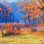 Cantonetti autunno, Caslano 1953 - Pastello 40x30 cm