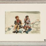 Gioventù Grachen 1936, acquarello 30x22 cm