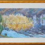 Canneto giallo, Magliaso 1974, acquarello 57x37 cm