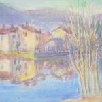 Riflesso, 1963 - acquarello 47x35 cm - Proprietà: Comune di Lavena Ponte Tresa, Italia