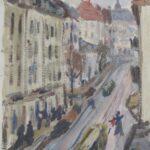 Città, Ginevra 1936, olio 21 x 29 cm